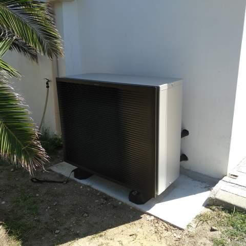 Installation d'une pompe à chaleur air/eau à Frontignan