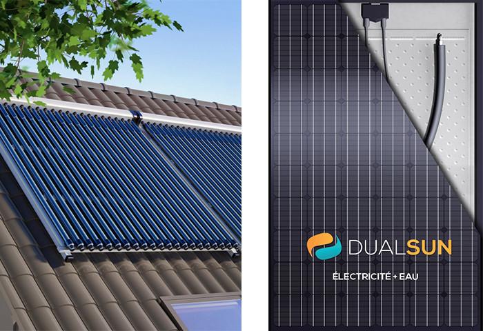 Chauffe-eau solaire individuel capteurs solaires panneaux solaires Viessmann Vitosol 300-TM hybrides Dualsun solution écologique économique Anéo Hérault 34 Gard 30