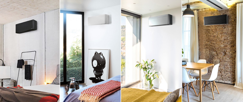 Anéo climatiseur réversible Daikin stylish mural 4 couleurs noir argent blanc noir imitation bois pompe à chaleur air air Daikin Gard Hérault 30 34