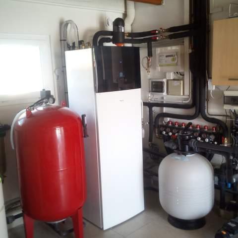 Installation d'une pompe à chaleur air/eau à Mauguio